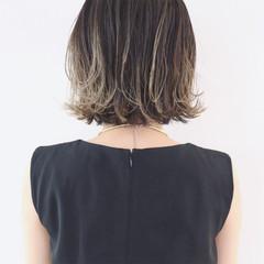 ハイライト バレイヤージュ ブルージュ モード ヘアスタイルや髪型の写真・画像