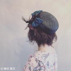 大人かわいい 簡単ヘアアレンジ ショート ガーリー ヘアスタイルや髪型の写真・画像