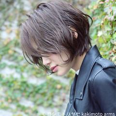 暗髪 外国人風 パーマ ゆるふわ ヘアスタイルや髪型の写真・画像
