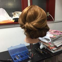大人女子 ナチュラル 結婚式 セミロング ヘアスタイルや髪型の写真・画像
