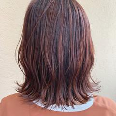 ラベンダーピンク ベリーピンク ボブ ピンクブラウン ヘアスタイルや髪型の写真・画像