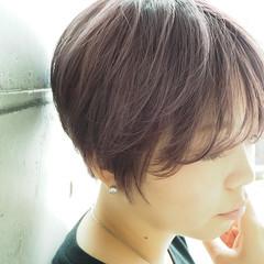ナチュラル グレージュ ブリーチ ハンサムショート ヘアスタイルや髪型の写真・画像