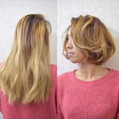 ナチュラル ボブ マッシュ レイヤーカット ヘアスタイルや髪型の写真・画像