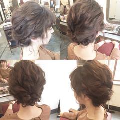 大人女子 簡単ヘアアレンジ ミディアム 結婚式 ヘアスタイルや髪型の写真・画像