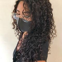 ロング ストリート パーマ スパイラルパーマ ヘアスタイルや髪型の写真・画像