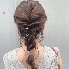 フェミニン ロング かわいい 簡単ヘアアレンジ ヘアスタイルや髪型の写真・画像