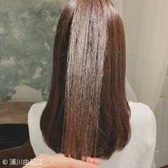 大人かわいい デート ストレート ロング ヘアスタイルや髪型の写真・画像