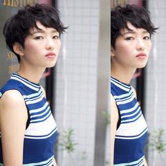 似合わせ ショート 簡単ヘアアレンジ 小顔 ヘアスタイルや髪型の写真・画像