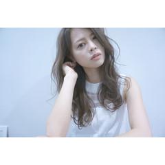 透明感 ロング ブラウン 外国人風 ヘアスタイルや髪型の写真・画像