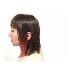 インナーカラー 透明感 モード 大人かわいい ヘアスタイルや髪型の写真・画像