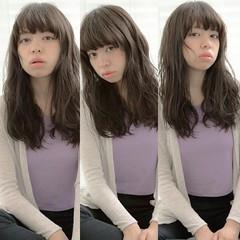 透明感 フェミニン ナチュラル 前髪あり ヘアスタイルや髪型の写真・画像