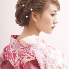 モテ髪 フェミニン ナチュラル 夏 ヘアスタイルや髪型の写真・画像