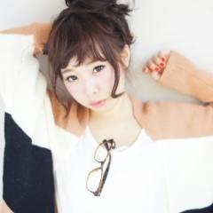 お団子 ヘアアレンジ ショート 簡単ヘアアレンジ ヘアスタイルや髪型の写真・画像