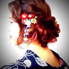 お祭り 和装 ヘアアレンジ 花火大会 ヘアスタイルや髪型の写真・画像