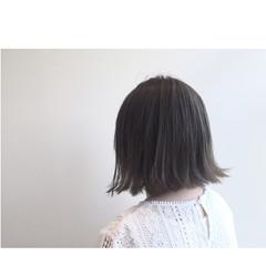 暗髪 ボブ ストリート アッシュ ヘアスタイルや髪型の写真・画像