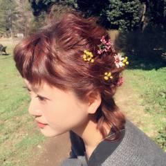 ゆるふわ モテ髪 フェミニン ボブ ヘアスタイルや髪型の写真・画像