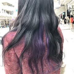 インナーカラー ブリーチオンカラー 外国人風カラー ブリーチ ヘアスタイルや髪型の写真・画像
