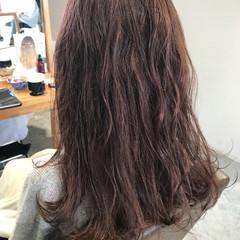 ラベンダーピンク セミロング ピンクアッシュ ピンク ヘアスタイルや髪型の写真・画像