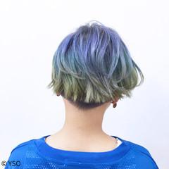 切りっぱなし ガーリー かわいい ストリート ヘアスタイルや髪型の写真・画像