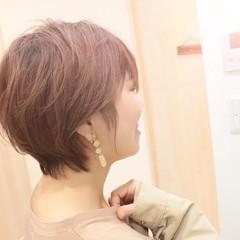 ショートヘア ナチュラル マッシュショート ショートボブ ヘアスタイルや髪型の写真・画像