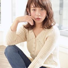 ミディアム 秋 ロブ ピュア ヘアスタイルや髪型の写真・画像