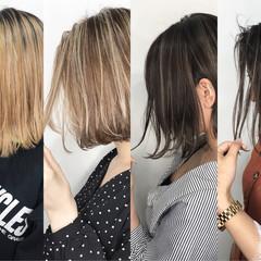 グレージュ ボブ 外国人風 外国人風カラー ヘアスタイルや髪型の写真・画像