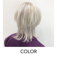 ストリート ホワイトカラー デザインカラー 外国人風カラー ヘアスタイルや髪型の写真・画像