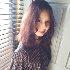 ラベンダーアッシュ フェミニン イルミナカラー ガーリー ヘアスタイルや髪型の写真・画像