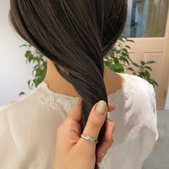 ナチュラル ブルージュ 透明感カラー ミディアム ヘアスタイルや髪型の写真・画像