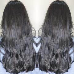 ロング ストリート イルミナカラー Wカラー ヘアスタイルや髪型の写真・画像