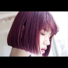 前髪あり ワンレングス 艶髪 ストリート ヘアスタイルや髪型の写真・画像