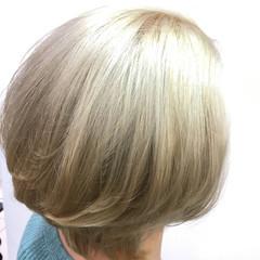 外国人風 上品 ハイライト ブリーチ ヘアスタイルや髪型の写真・画像