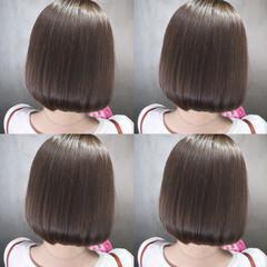 ナチュラル 透明感 ボブ デート ヘアスタイルや髪型の写真・画像