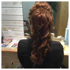 ポニーテール 大人かわいい ヘアアレンジ セミロング ヘアスタイルや髪型の写真・画像
