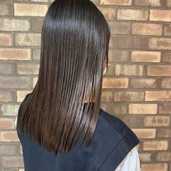 前髪あり 梅雨 ナチュラル 縮毛矯正 ヘアスタイルや髪型の写真・画像