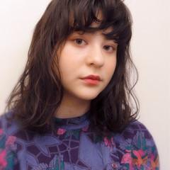 アンニュイ 抜け感 ガーリー ミディアム ヘアスタイルや髪型の写真・画像