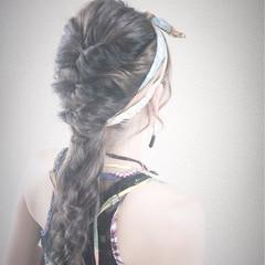 ロング ショート ヘアアレンジ ヘアアクセ ヘアスタイルや髪型の写真・画像