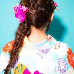 簡単ヘアアレンジ ヘアアレンジ 成人式 ロング ヘアスタイルや髪型の写真・画像