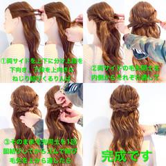 ヘアアレンジ フェミニン オフィス デート ヘアスタイルや髪型の写真・画像