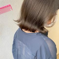 ナチュラル ラベンダーグレージュ ミルクティーグレージュ ボブ ヘアスタイルや髪型の写真・画像