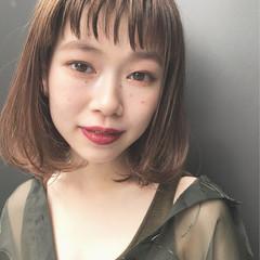 ショートバング モテ髪 秋 ナチュラル ヘアスタイルや髪型の写真・画像