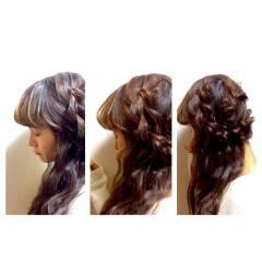愛され コンサバ 秋 編み込み ヘアスタイルや髪型の写真・画像