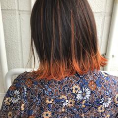 ヘアアレンジ オレンジ スポーツ イエロー ヘアスタイルや髪型の写真・画像