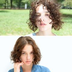 簡単 ストリート ボブ アッシュ ヘアスタイルや髪型の写真・画像