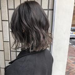 ボブ ロブ バレイヤージュ ナチュラル ヘアスタイルや髪型の写真・画像