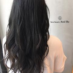 外国人風 暗髪 アッシュ グラデーションカラー ヘアスタイルや髪型の写真・画像