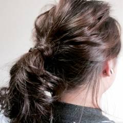ボブ ヘアアレンジ ナチュラル ミディアム ヘアスタイルや髪型の写真・画像