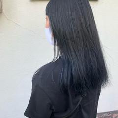 ブルージュ ブルーグラデーション ロング ナチュラル ヘアスタイルや髪型の写真・画像