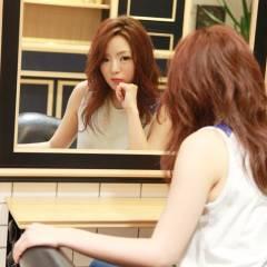 レッド コンサバ ピンク 愛され ヘアスタイルや髪型の写真・画像