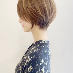 ショートヘア ナチュラル ひし形シルエット マッシュショート ヘアスタイルや髪型の写真・画像